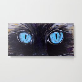 Sass: The Eyes of a Long-Haired Cat Metal Print