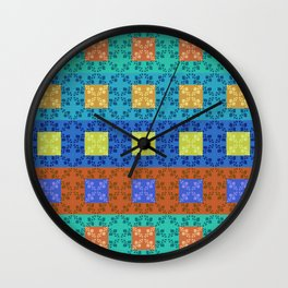 Simple retro Fresh Lines and Squares Wall Clock