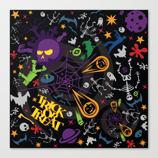 Space is the Place for Halloween Canvas Print