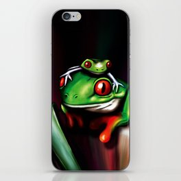 Red Eyed Tree Frogs iPhone Skin