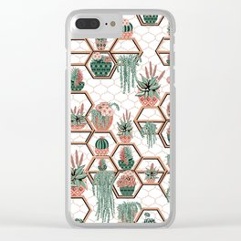 Succulent Garden in Morocco Clear iPhone Case