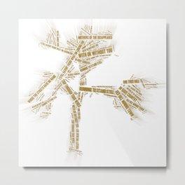 u2's Joshua Tree Tracklist Metal Print