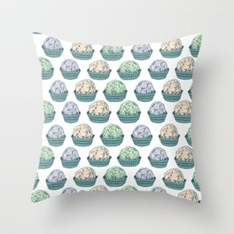 Candy chocolate truffles sketch Throw Pillow