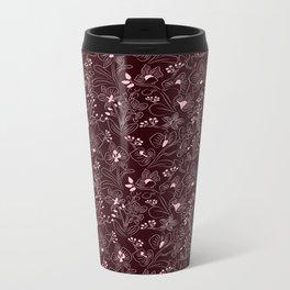 Dark Orchids Metal Travel Mug