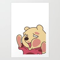 winnie the pooh Art Prints featuring trapped Winnie the Pooh by Stapanda
