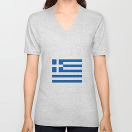 Flag of greece Unisex V-Neck
