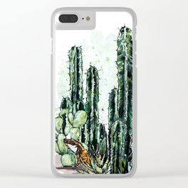 Cactus Long and a friend Clear iPhone Case