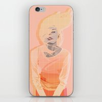 peach iPhone & iPod Skins featuring Peach by Denise Medina