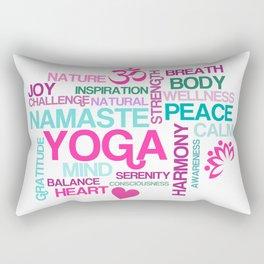 Benefits of Yoga Rectangular Pillow