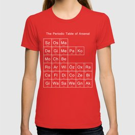 Periodic Table of Arsenal T-shirt