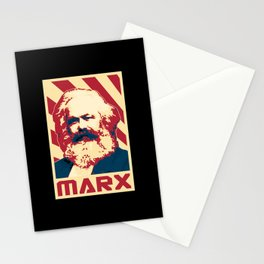 Karl Marx Retro Propaganda Stationery Cards
