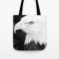 Bald Eagle with Yellow Eye Tote Bag