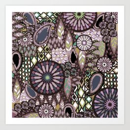 Tribal Patchwork Art Print