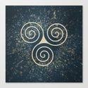 Triskelion Golden Three Spiral Celtic Symbol by art4u