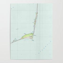 Cape Hatteras National Seashore Map (1985) Poster