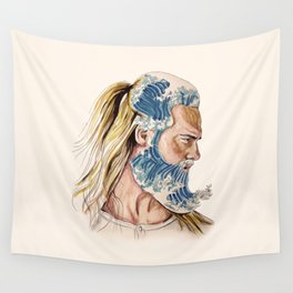 King of waves Wall Tapestry