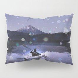 Canoe at Mount Fuji Pillow Sham