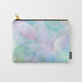 Pastel Colored Leaf Skeletons Carry-All Pouch