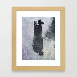 The Invisible Man Right View Framed Art Print