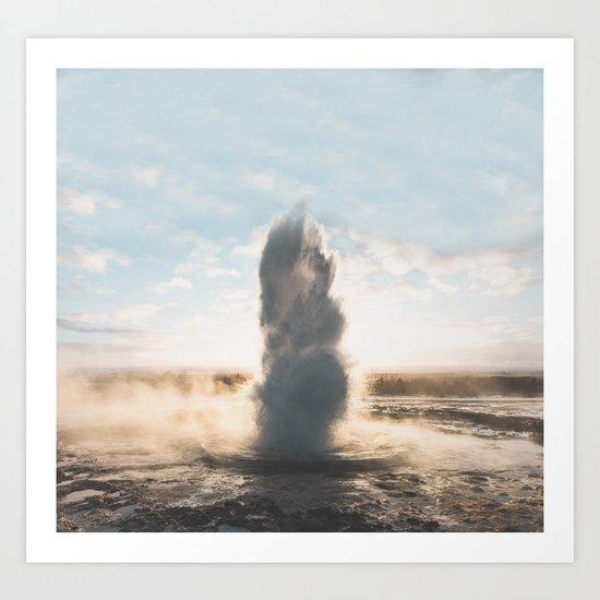 Geysir, Iceland II Art Print