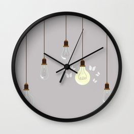 Light Bulbs Wall Clock