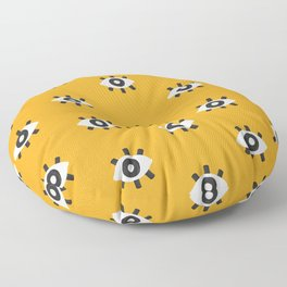 Evil Eye Dots – Marigold Palette Floor Pillow