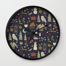 Winter Nights Wall Clock