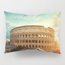 Colosseum Amphitheatre Rome Italy Pillow Sham