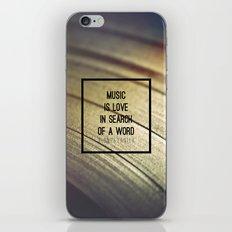Music Is iPhone & iPod Skin