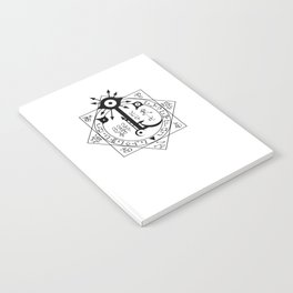 Invisible Sun Symbol on White Notebook
