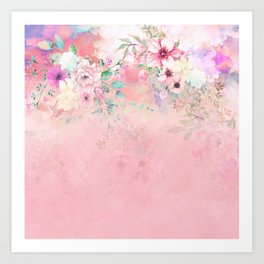 Botanical Fragrances in Blush Cloud-Ιmmersed Art Print
