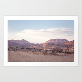 Marfa II - Sunset on the Range Art Print