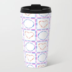 Hearts XOX Metal Travel Mug