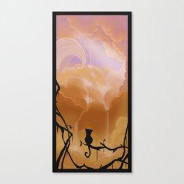 Fluffy waterfall Canvas Print