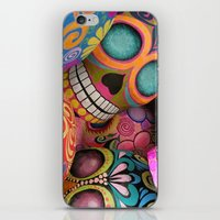 sugar skulls iPhone & iPod Skins featuring sugar skulls by wet yeti
