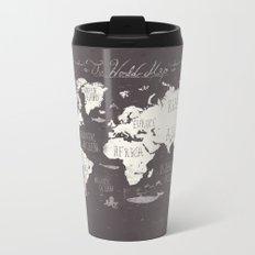 The World Map Metal Travel Mug
