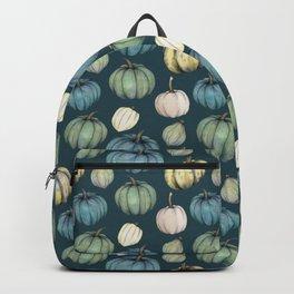 Blue pumpkin pattern Backpack
