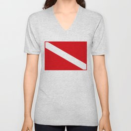 Diving flag Unisex V-Neck