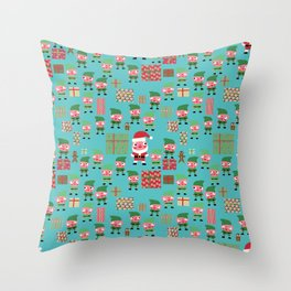 Santa's Workshop Throw Pillow
