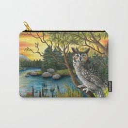 Bird 68 Owl Bird Carry-All Pouch