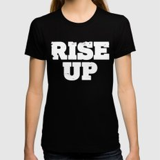 Rise Up Black Womens Fitted Tee MEDIUM