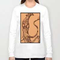 squid Long Sleeve T-shirts featuring Squid  by Jack Yuen