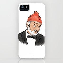 Bill Murray as Steve Zissou iPhone Case