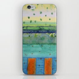 Orange Posts With Landscape iPhone Skin