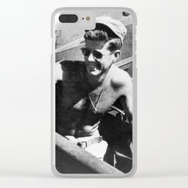 JFK Navy Boat Clear iPhone Case