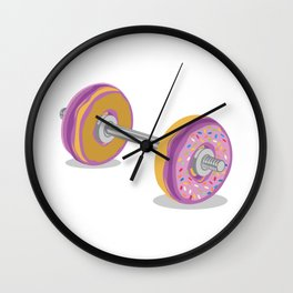 Donut Work-Out Wall Clock