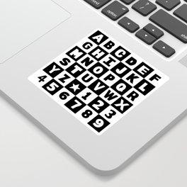 Alphabet Black and White Sticker