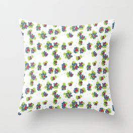 naive flowers pattern Throw Pillow