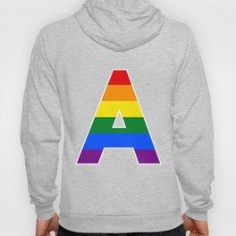 Rainbow letters A LGBT GAY PRIDE SEASON TYPOGRAPHY LGBTQIA Hoody