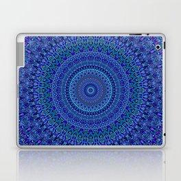Blue Floral Ornate Mandala Laptop & iPad Skin